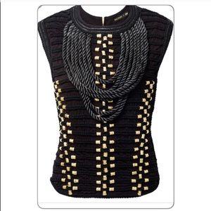GORGEOUS NWT H&M x BALMAIN Black Rope Top